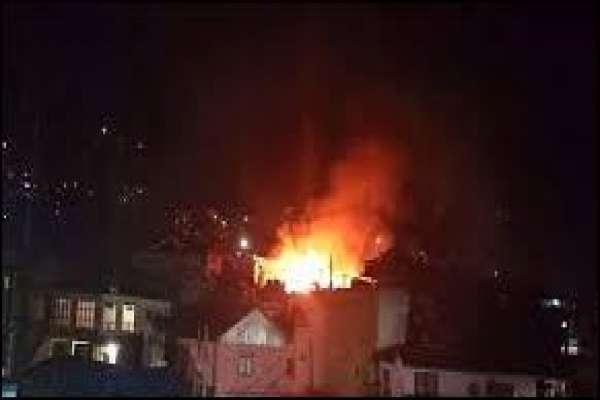 ताप्लेजुङ दोभान बजारमा भिषण आगलागीः ३५ घर जलेर नष्ट