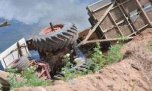 ट्र्याक्टर दुर्घटनामा चालकको मृत्यु
