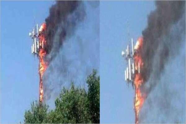 बारामा एनसेलको टावरमा आगजनी