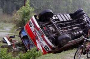 डोटीमा बस दुर्घटनाः ११ यात्रु घाइते, ४ गम्भीर